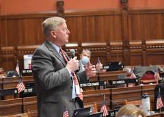 State Rep. Mike France addresses the legislature during debate on legislation on May 24th.