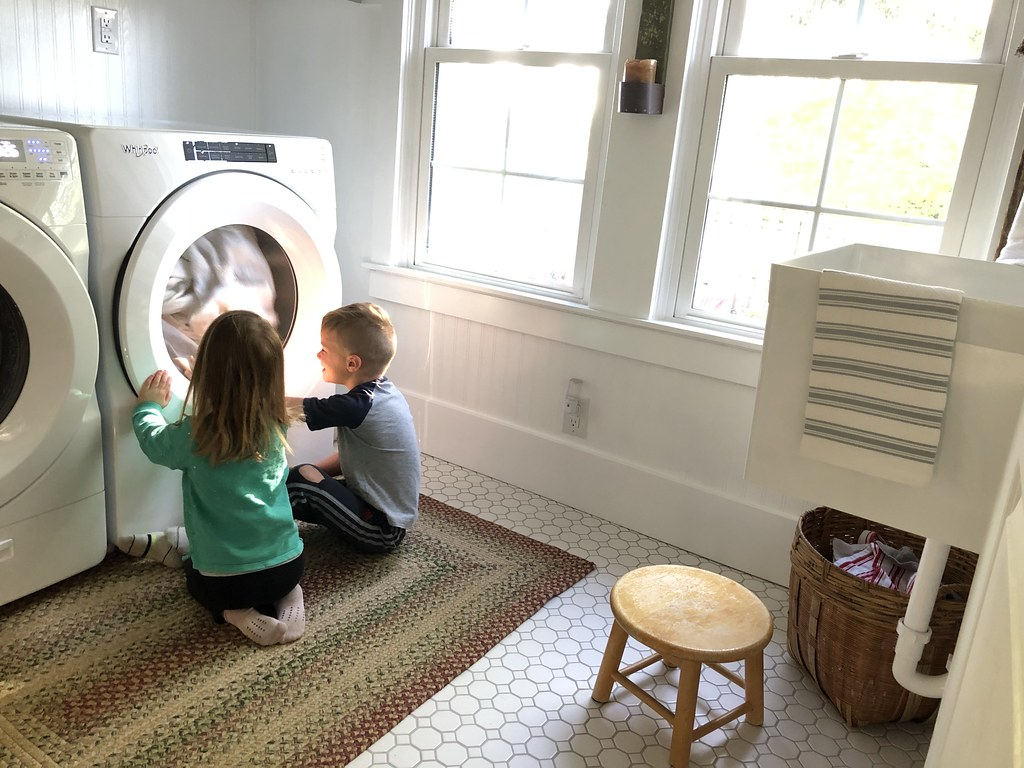 watching the laundry