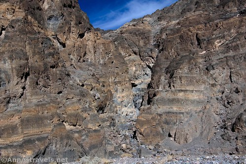 The mouth of the side-canyon off of Fall Canyon, Death Valley National Park, California