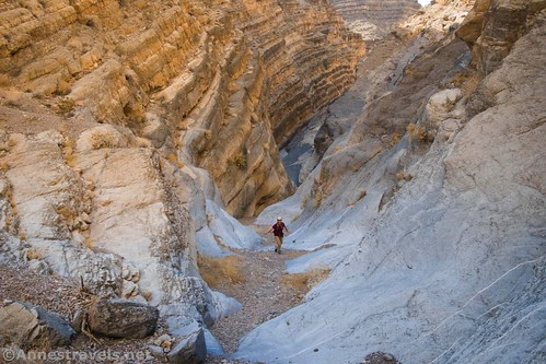 The upper end of the first slot in Fall Canyon, Death Valley National Park, California