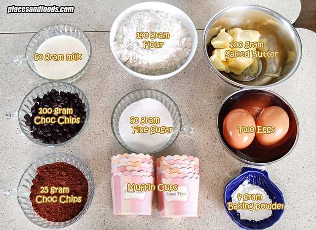 double choc muffins ingredients
