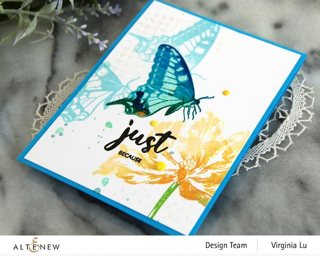06032021-Dovetail Butterflies Stamp & Die Bundle -Blooming Tulips Stamp Set-Feeling Dotty Stencil-002