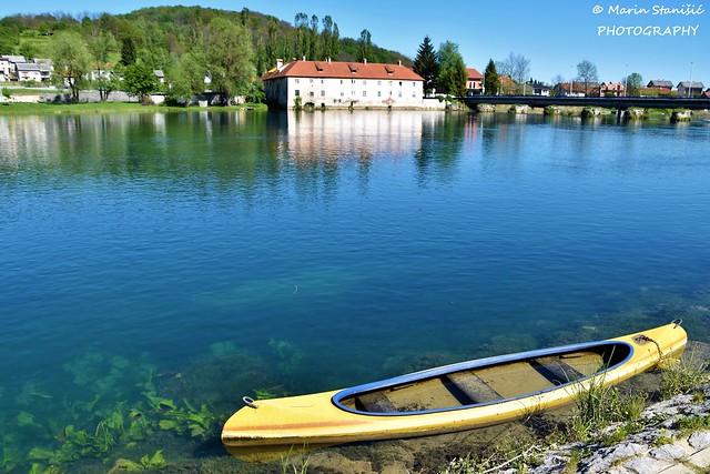 Springtime shine on river Mrežnica - Duga Resa, Croatia