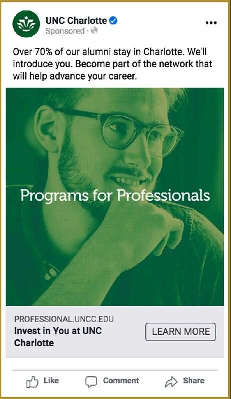 Social media ads: Professional Programs Summer Campaign