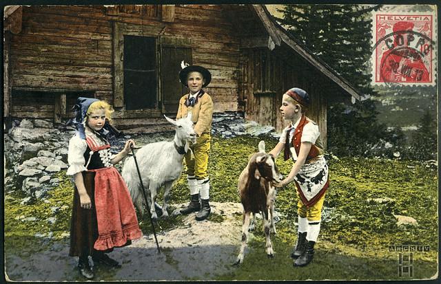 ArchivTappen233A952 Postkartengrüße aus Coppet (front), Schweiz, 30. August 1913