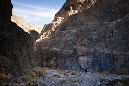 Cliffs and shadows in Fall Canyon, Death Valley National Park, California