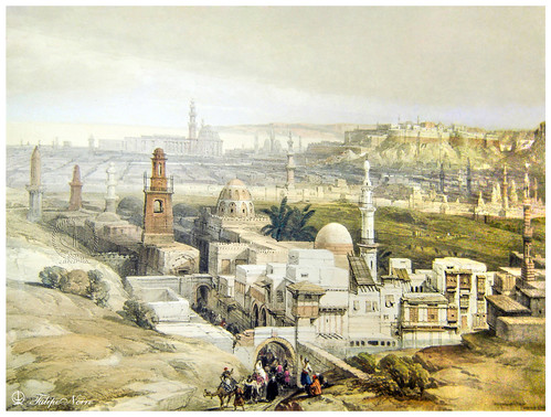 General View Painting of Cairo Citadel District circa 1600