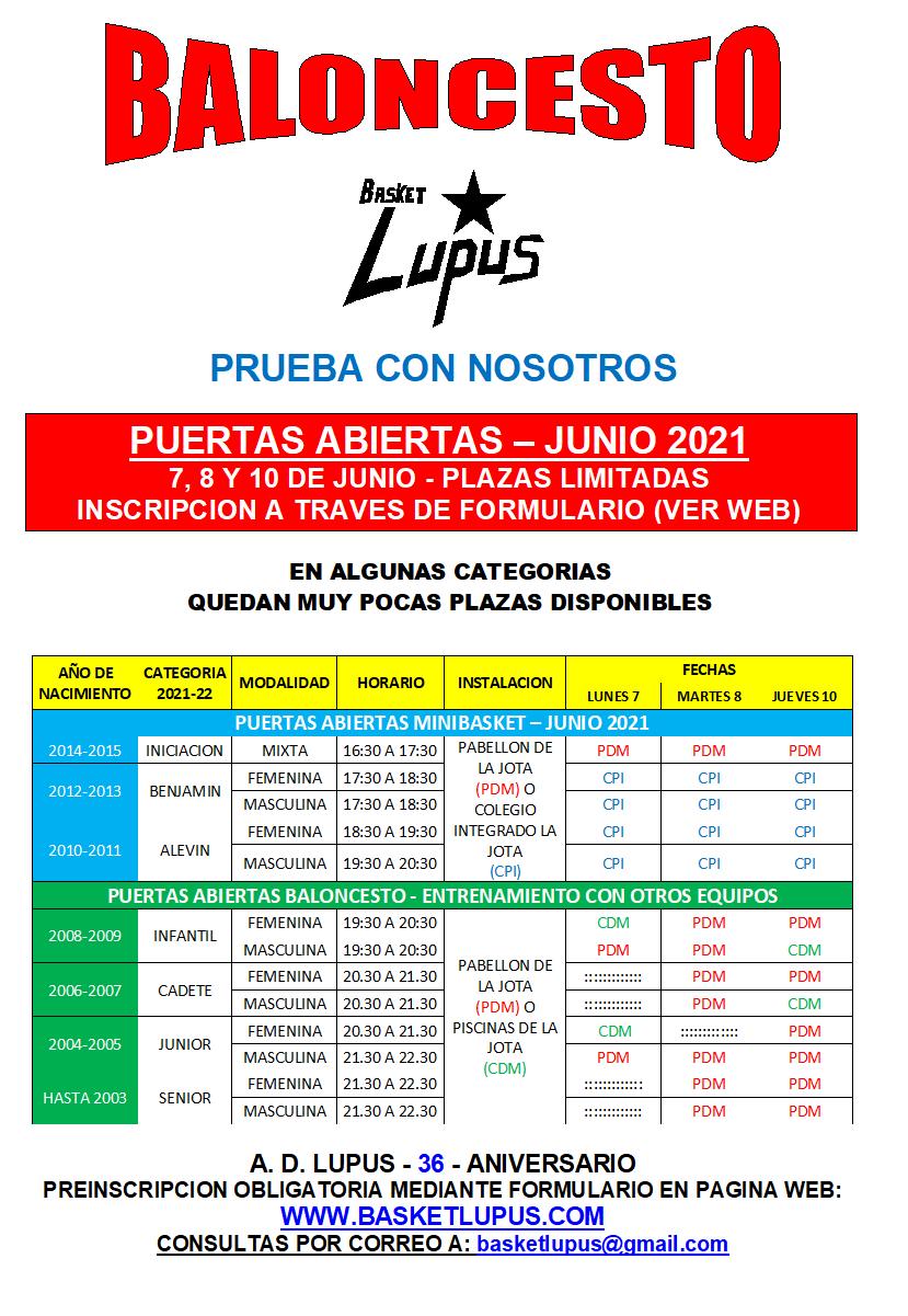 2020-21 PUERTAS ABIERTAS JUNIO - CARTEL