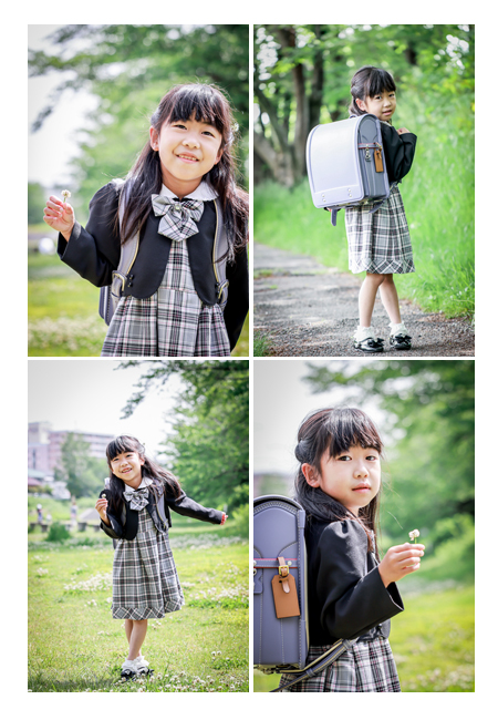 小学校入学記念のロケーション撮影 愛知県瀬戸市