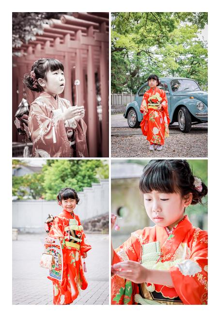 春の七五三 5月 7歳の女の子 深川神社へお参り(愛知県瀬戸市)