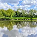 River Ribble reflections at Preston