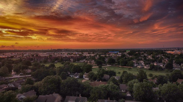 Sunset over Tulsa_HDR