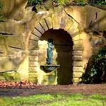 Ornate fountain at Avenham Park, Preston