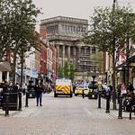 Police attending, Friargate, Preston