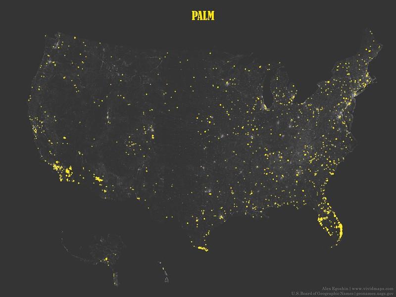 Palm - Toponymic Map