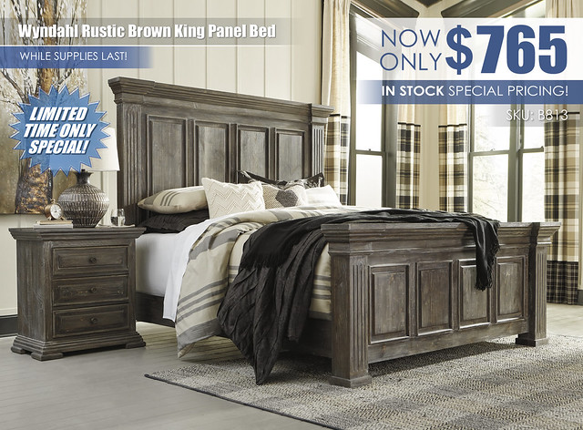 Wyndahl Rustic Brown King Panel Bed_B813-58-56-97-93