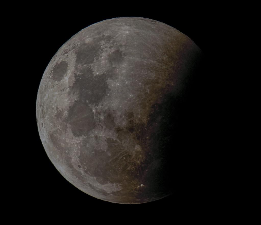 Super Moon - Partial Eclipse
