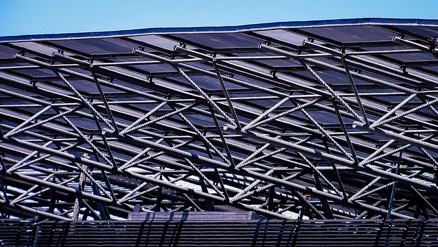 Roof Business Center with Blue Sky