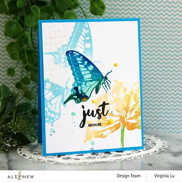 06032021-Dovetail Butterflies Stamp & Die Bundle -Blooming Tulips Stamp Set-Feeling Dotty Stencil-001