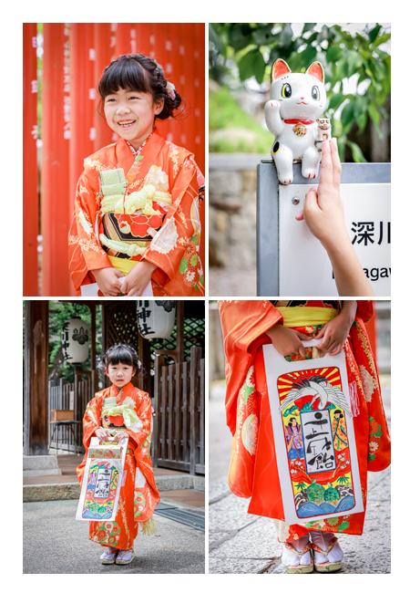 7歳の女の子の七五三 深川神社へお参り(愛知県瀬戸市)