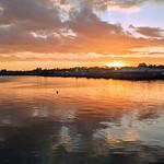 Preston Docks dusk reflections