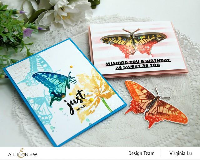 06032021-Dovetail Butterflies Stamp & Die Bundle -Blooming Tulips Stamp Set-Feeling Dotty Stencil-Slim sentiment Die-001