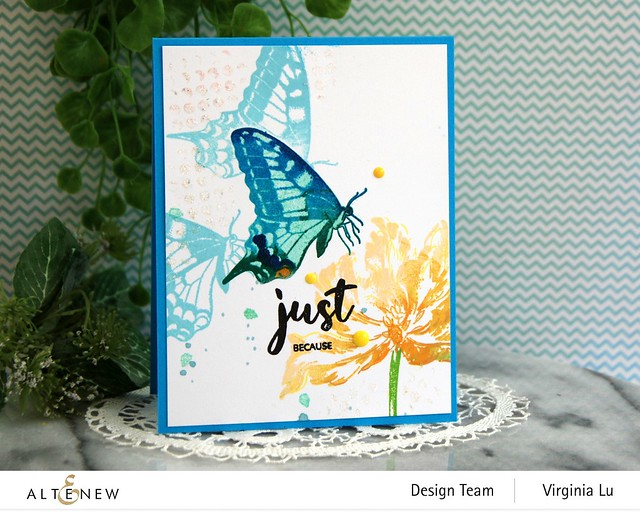 06032021-Dovetail Butterflies Stamp & Die Bundle -Blooming Tulips Stamp Set-Feeling Dotty Stencil