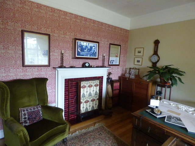 The House at Winterbourne House and Garden - The Study - fireplace