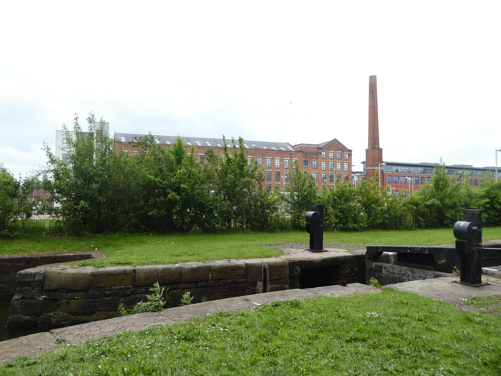 Former cotton mills along the Ashton Canal in Manchester