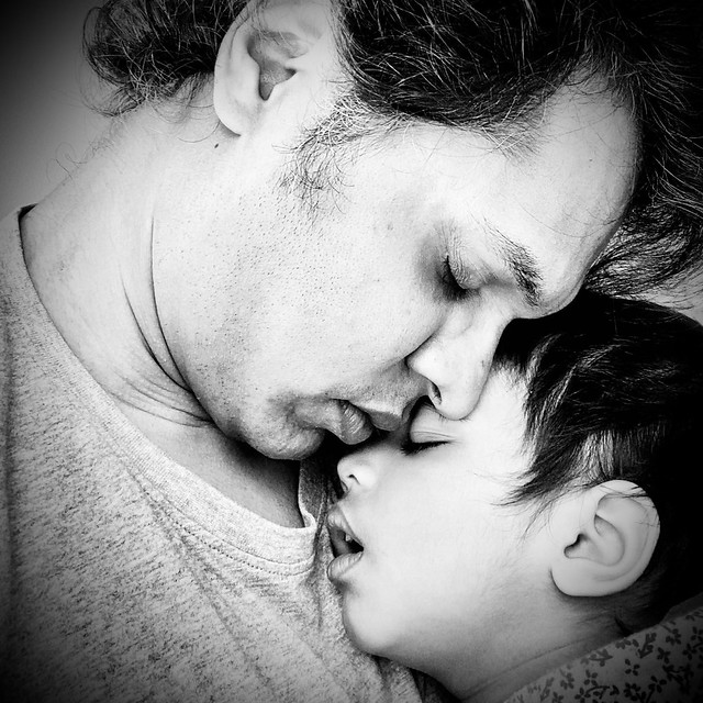 Falling asleep - Father and Daughter bonding