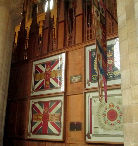 Peterborough Cathedral, Regimental Colours