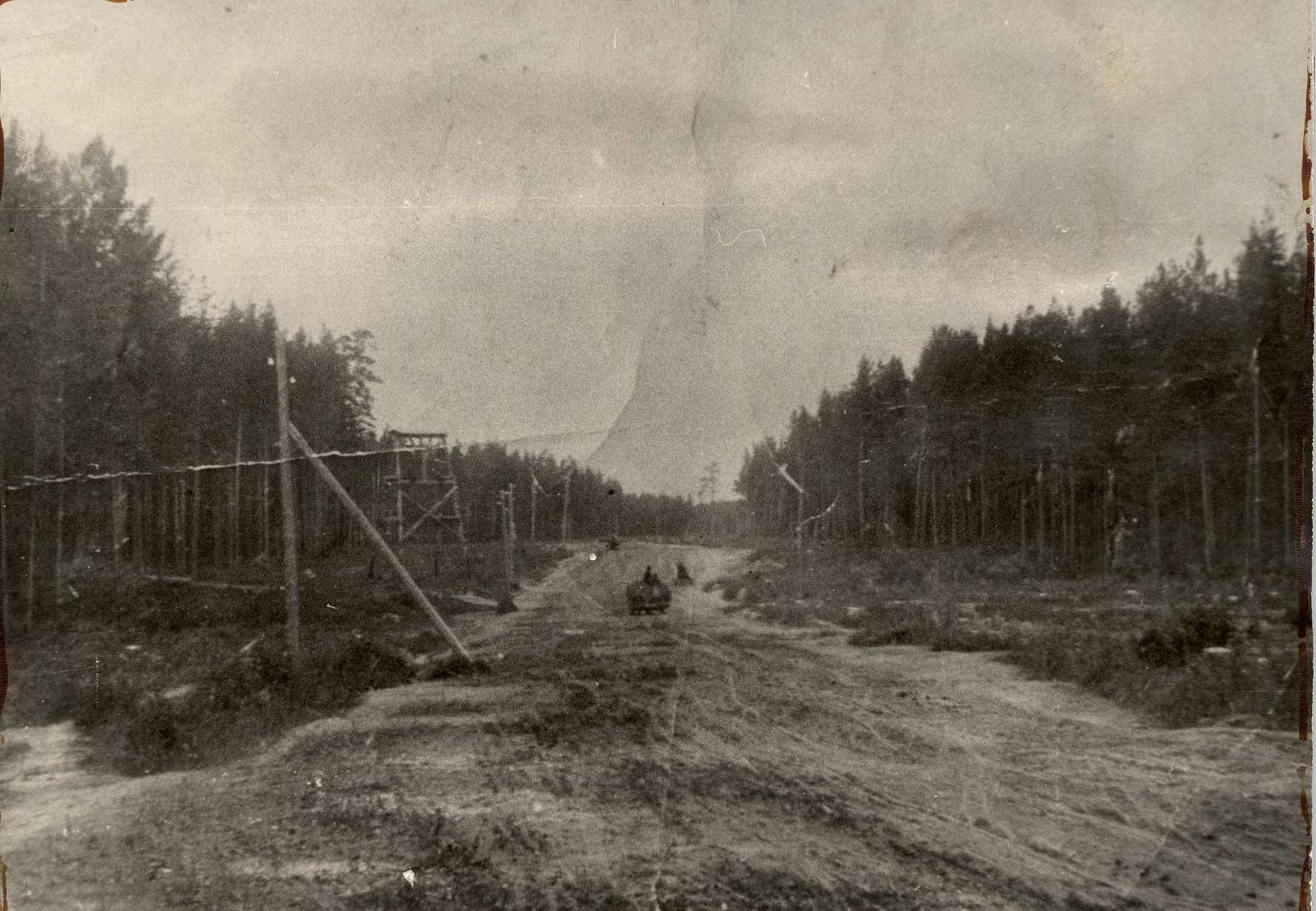 1900. Дорога на Гороховскую мельницу.