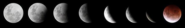 Super-blood-moon eclipse composite