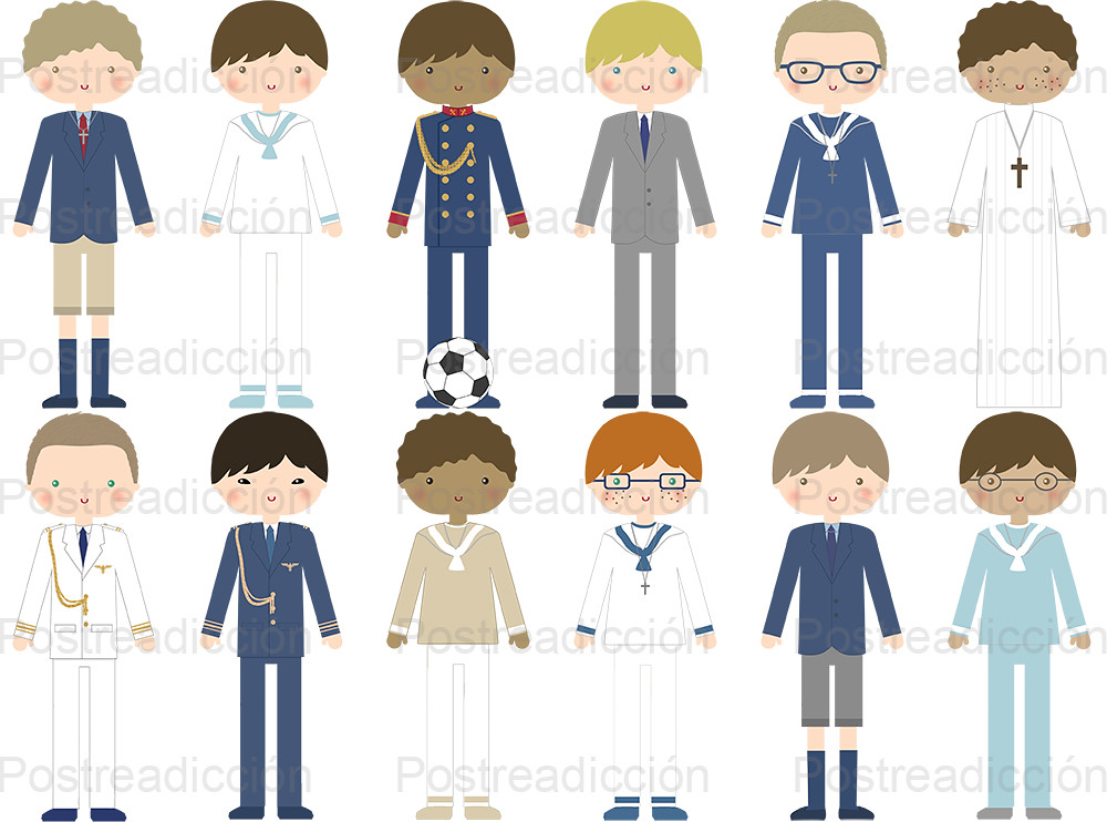 ilustración niño comunión