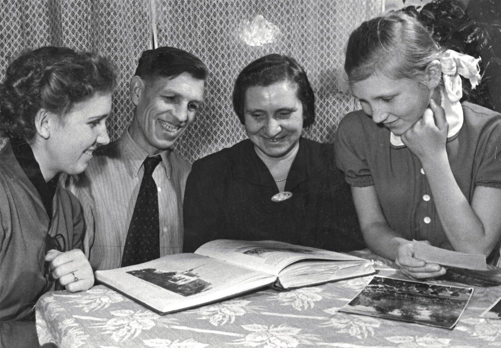 1949-1950. Семья