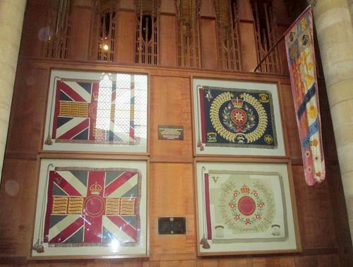 Regimental Colours, Peterborough Cathedral