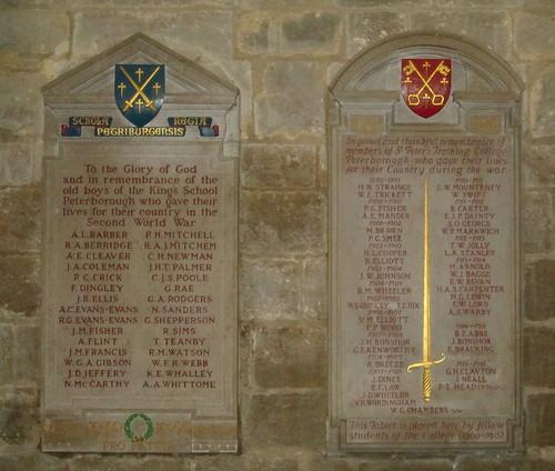 Peterborough Cathedral, World War 2 Memorial