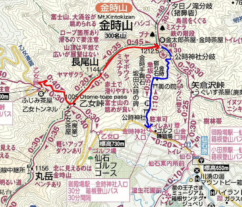 金時山の地図