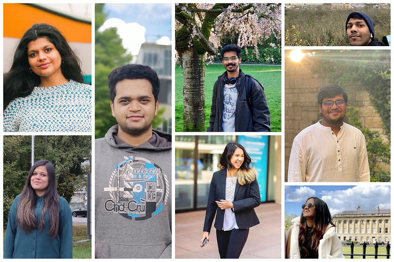 A montage of postgraduate students