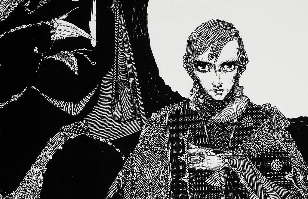 Detail from an illustration by Harry Clarke for Goethe's