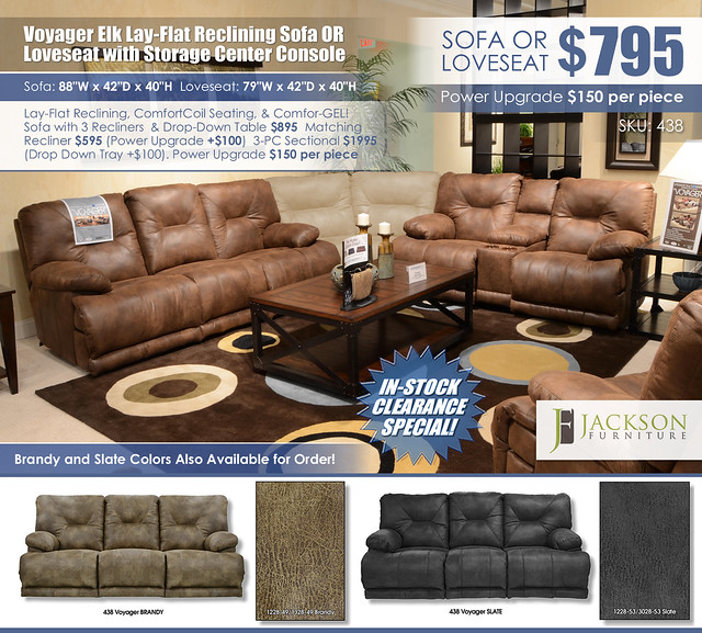 Voyager Elk Reclining Sofa OR Loveseat_438_Clearance