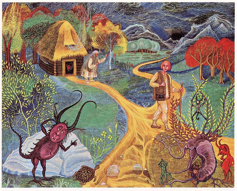 "Cvijeta Job - Illustration 03, from ""Potjeh"" by Ivana Brlic-Mazuranic, 1975"