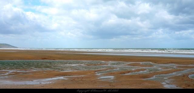 A marée basse sur la côte Fleurie