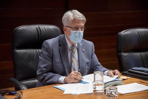El portavoz del Gobierno de Canarias, Julio Pérez, durante la celebración del Consejo de Gobierno
