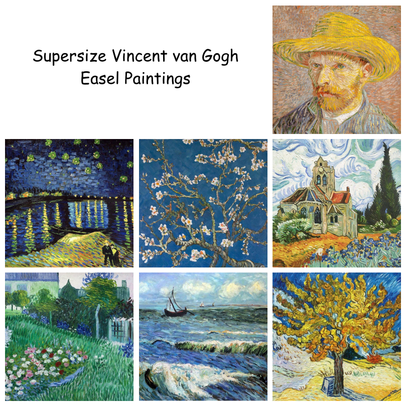 Supersize Vincent van Gogh Easel Paintings