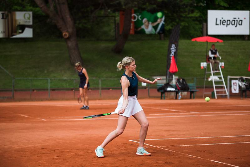 """Starptautiskās ITF pasaules tenisa tūres W25 kategorijas sacensības sievietēm """"Liepaja Open"""" 5.diena. Foto: Mārtiņš Vējš / 5th day of ITF Women's World Tennis Tour W25 category """"Liepaja Open"""". Photo: Mārtiņš Vējš"""