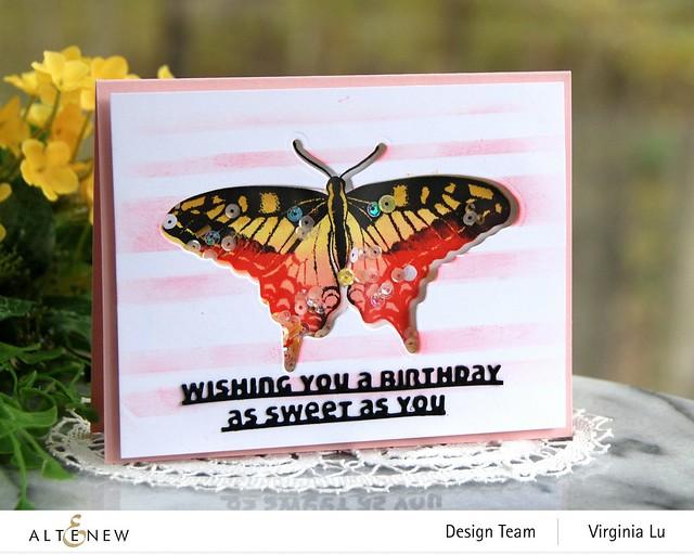 06032021-Dovetail Butterflies Stamp & Die Bundle -Slim Sentiments Die Set -Stripe Builder Stencil -004