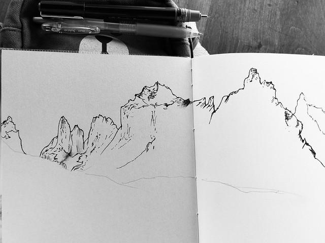 Cerro Fortaleza - Cerro Espada - Cerro Hoja - Cuerno Norte - Cuerno Principal @ Paine Grande