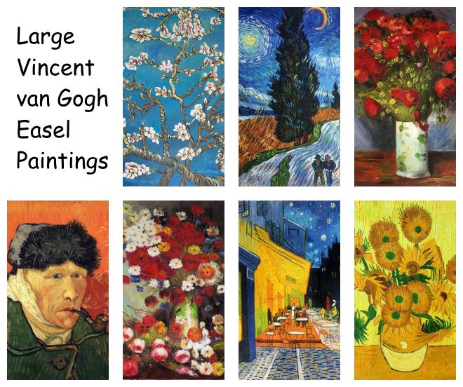 Large van Gogh Easel Paintings