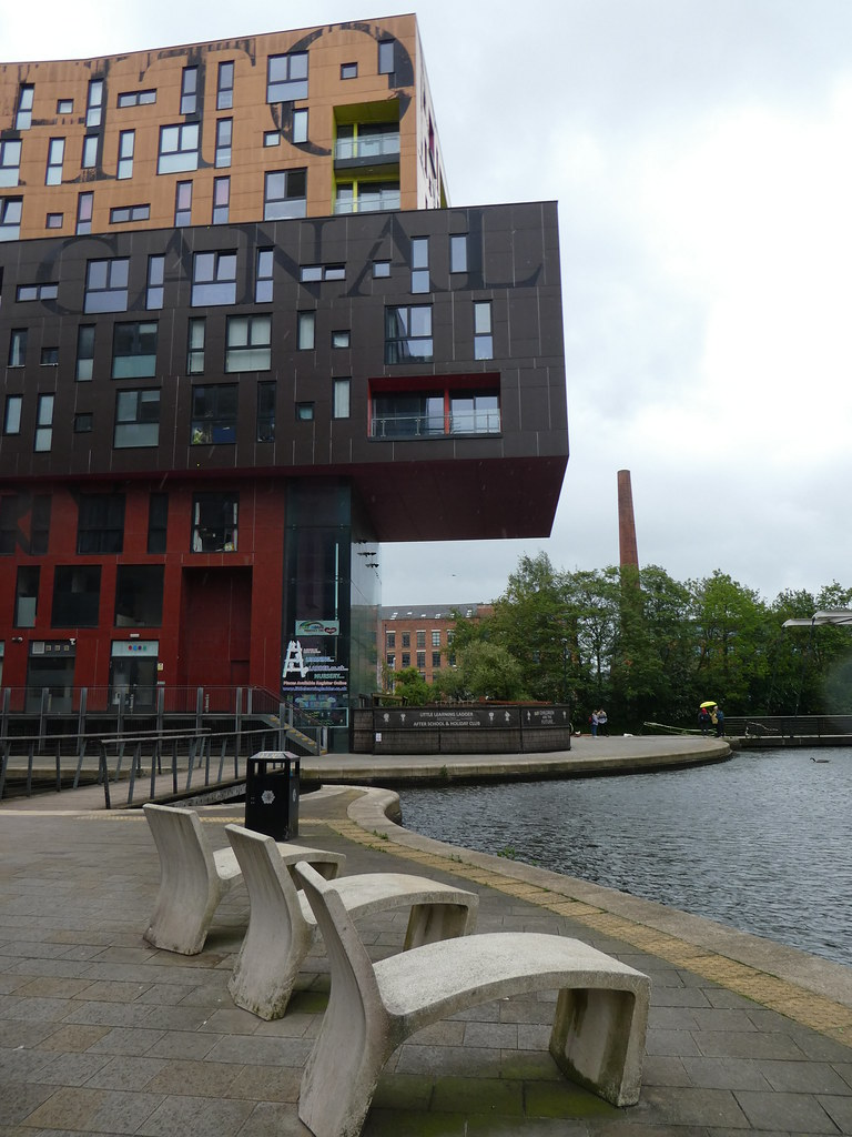 Canal side homes at New Islington, Manchester